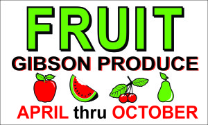 GIBSON PRODUCE FRUIT DOT SIGNS